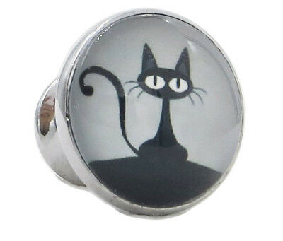 Black Cat Glass Knob for Dresser Drawers, Cabinet Drawers