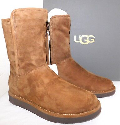 0929ed97360 NEW WOMENS SZ 10 Ugg Luxe 1009250 Abree Short Bruno Suede Shearling Lined  Boots