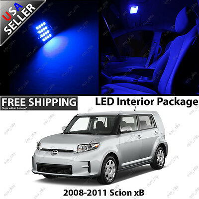 Scion xB 4 Door Blue LED SMD Interior Light Bulb Combo Package Toyota