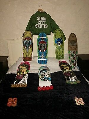 Vintage 80's Skateboard Collection. Powell and Peralta, Vision,Santa Cruz, More.