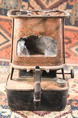 Antique Old Metal Cast Iron  Florence Lamp Stove Sad Railroad Heater