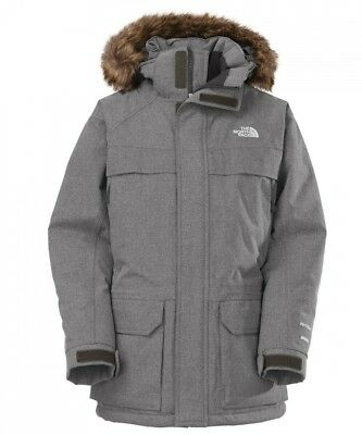 (Blue/charcoalgryhtr, Small) - The North Face Boy's Mcmurdo Down Parka Jacket