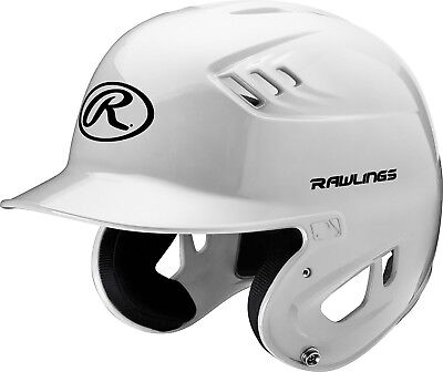 (Large, White) - Rawlings Clear Coat Alpha Sized Batting Helmet. Free Shipping