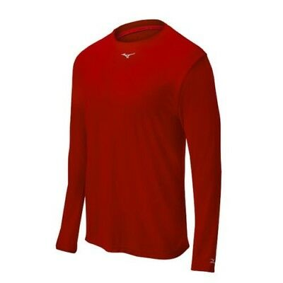 (XX-Large, Red) - Mizuno Comp Long Sleeve Crew Top. Delivery is Free
