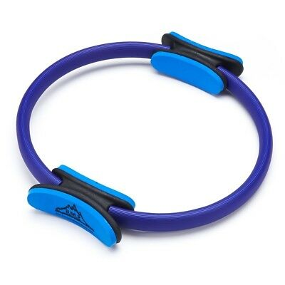 (Blue) - Black Mountain Products Pilates Dual Grip Fitness Toning Ring