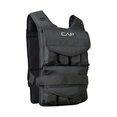 (18kg) - CAP Barbell Adjustable Weighted Vest. Free Delivery