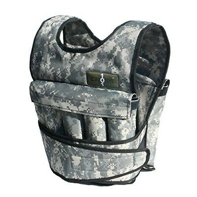 (9.1kg) - Cross101 Adjustable Camouflage Weighted Vest with Shoulder Pads