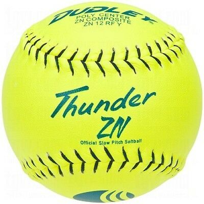 Dudley USSSA Thunder ZN Slow Pitch Softball - .40 COR - Classic M Stamp - 12
