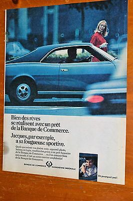 1968 Amc Javelin For French Cibc Canadian Imperial Bank Of Commerce Ad