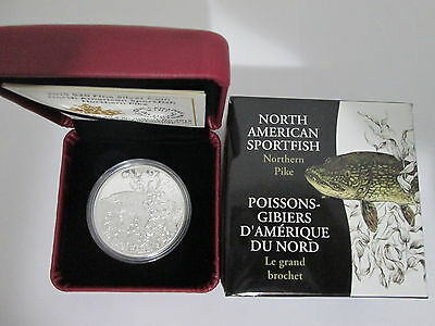 2015 Canada $20 1 oz. Fine Silver Coin -North American Sportfish - Northern Pike