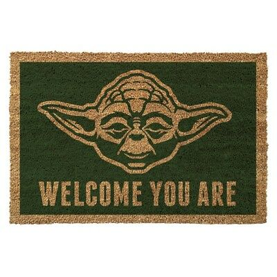 Star Wars Yoda Welcome You Are Doormat coil & rubber back non slip Mat 60x40cm