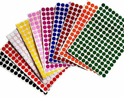 Color Coding Labels 3/8 Inch 10 mm Round Dot Stickers Dots Label 3080 Pack