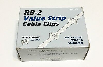 RB-2 Value Strip Cable Clips Series 6 Standard Qty: 400