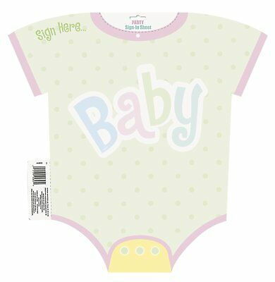 Baby Shower Party Guest Sign - In Sheet Keepsake Unisex 45 cm x 45 cm