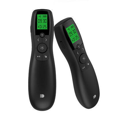 Green Light Wireless Presenter Rechargeable 2.4GHz LCD Display Remote Control
