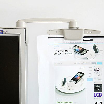 NEW Computer PC LCD Display Mount Document Holder Clip Bracket