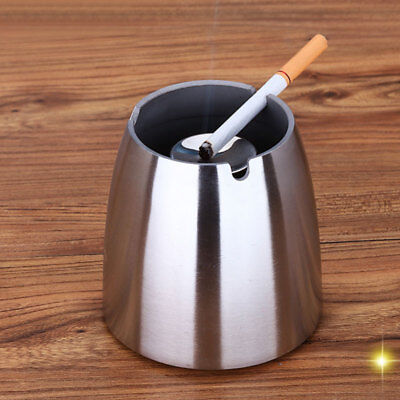 Stainless Steel Ashtray Cigarette Restaurant Pub Bar Smoking Windproof  New.