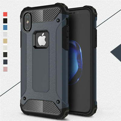 For iPhone Xs Max XR X Hard Case Rugged Armor Shockproof Rubber Protective Cover