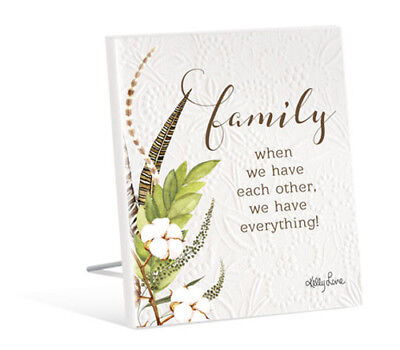 French Country Vintage Inspired Wall Art Wooden Family We Have Everything Sig...