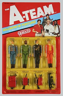 A team FIGURE SET / A team Figuren Galoob MOC OVP unpunched with Sticker