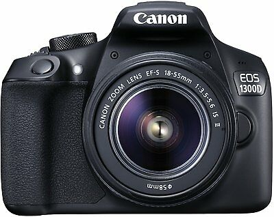 Canon EOS 1300D 18.0MP macchina fotografica digitale Kit EF-S IS II 18-55mm