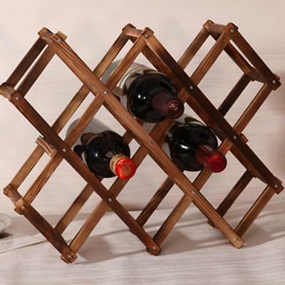 Wooden Red Wine Rack 3/6/10 Bottle Mount Holder Exhibition Organizer Charming