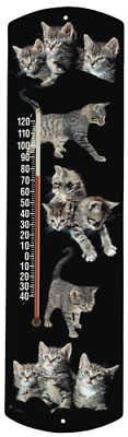 Heritage America by MORCO 375CAT2 Kittens-Running Outdoor or Indoor Thermometer,