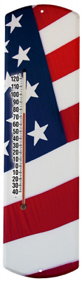 Heritage America by MORCO 375FLAG US Flag Outdoor or Indoor Thermometer, 20-Inch