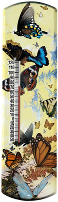 Heritage America by MORCO 375BFLY Butterfly Outdoor or Indoor Thermometer, 20-In