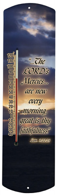 Heritage America by MORCO 375MERC Lord's Mercies Outdoor or Indoor Thermometer,
