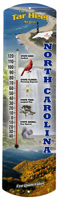 Heritage America by MORCO 375NCAR North Carolina Outdoor or Indoor Thermometer,