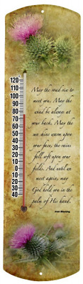 Heritage America by MORCO 375IB Irish Blessing Outdoor or Indoor Thermometer, 20