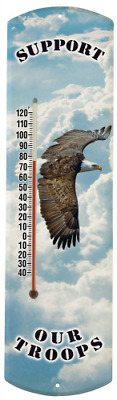 Heritage America by MORCO 375TR Support Our Troops Outdoor or Indoor Thermometer