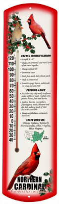 Heritage America by MORCO 375NC Northern Cardinal Outdoor or Indoor Thermometer,