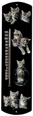 Heritage America by MORCO 375CAT1 Kittens-Fish Bowl Outdoor or Indoor Thermomete