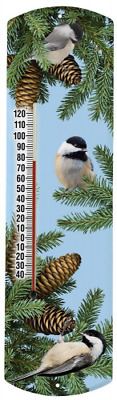 Heritage America by MORCO 375BCC2 Chickadee in Spruce Outdoor or Indoor Thermome