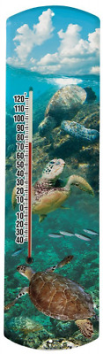 Heritage America by MORCO 375STURT Sea Turtle Outdoor or Indoor Thermometer, 20-