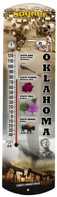 Heritage America by MORCO 375OK Oklahoma Outdoor or Indoor Thermometer, 20-Inch