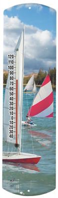 Heritage America by MORCO 375SAIL Sailboat Outdoor or Indoor Thermometer, 20-Inc