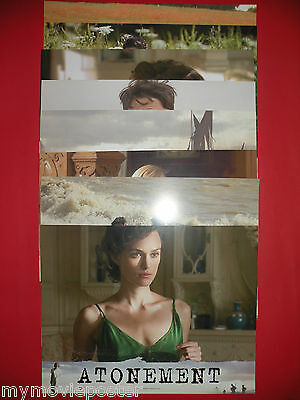 "ATONEMENT 2007 JAMES MCAVOY KEIRA KNIGHTLEY 11"" x 14"" LOBBY CARDS SET"