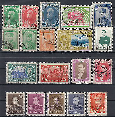 Persia - Middle East 1935 - 1962 ☀ small collection / lot of 19 used old stamps