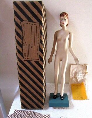 Vintage Latexture Designer Fashion Doll Miniature Mannequin Teach Sewing W/box