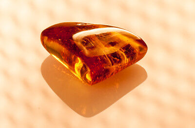 Natural Cognac Brown Inclusion Egg Yolk Genuine BALTIC AMBER Stone 4.26g R101030