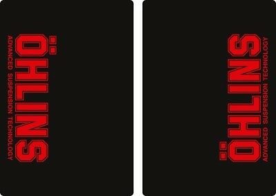 Ohlins Suspension Bike Upper Fork Decal Sticker Graphic Set Adhesive Red 2 Pcs