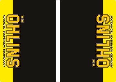 Ohlins Suspension Bike Upper Fork Decal Sticker Graphic Set Adhesive Yellow 2Pcs