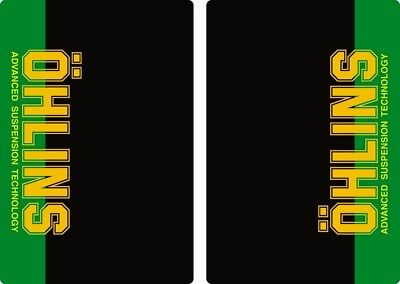 Ohlins Suspension Bike Upper Fork Decal Sticker Graphic Set Adhesive Green 2Pcs