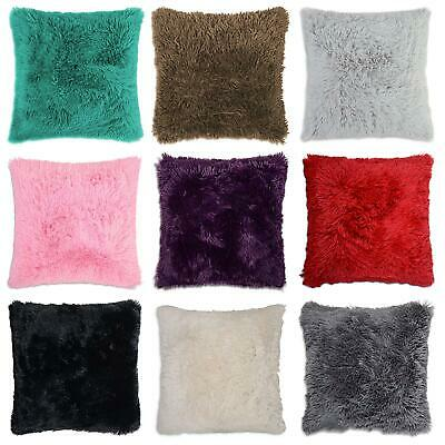 """NEW FAUX FUR LONG PILE CUSHION COVER SUPER SOFT TOUCH AND CUDDLY SHAGGY 17x17"""""""