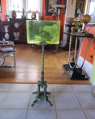 Rare Art Deco Art Nouveau Iron Fish Bowl Stand Uranium Tank Original Paint