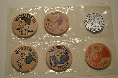 1965 2nd ANNUAL COIN SHOW MCKEESPORT CLUB COMMEMORATIVE WOODEN NICKEL