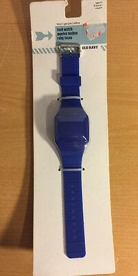 Old Navy Boys Blue Tech Watch, One Size Fits All, HTF